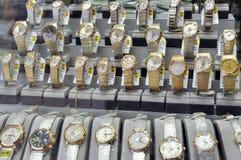Gouden horloges Stock Afbeelding