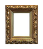 Gouden houten frame Royalty-vrije Stock Foto's