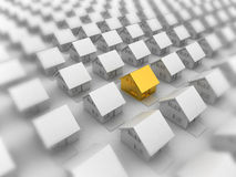 Gouden huisclose-up Royalty-vrije Stock Afbeeldingen