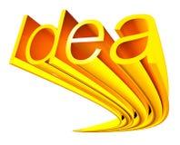 Gouden idee Royalty-vrije Stock Fotografie