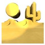 Gouden illustratie van woestijn Stock Foto's