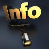 Gouden Informatie online Stock Foto's