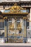 Gouden ingangspoorten aan het Paleis van Rechtvaardigheid Palais de Justic Royalty-vrije Stock Afbeelding