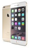Gouden iPhone 6 van Apple plus Stock Foto's