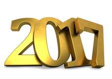 Gouden 2017 jaar cijfers Stock Fotografie