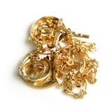 Gouden jewelery royalty-vrije stock afbeeldingen