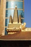 Gouden Jing An Temple Shanghai China Stock Afbeeldingen