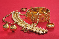 Gouden juwelen Stock Fotografie