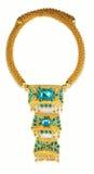 Gouden juwelen, armbanden royalty-vrije stock foto's