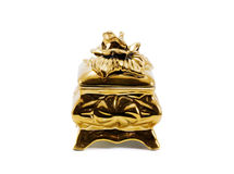 Gouden juweliers kleine doos Stock Foto's