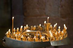 Gouden kaarsen Royalty-vrije Stock Foto's