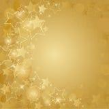 Gouden kaart met sterren Stock Foto's