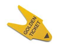 Gouden kaartje Stock Afbeelding