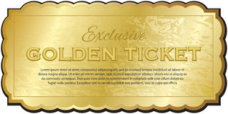 Gouden kaartje Royalty-vrije Stock Afbeeldingen