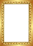 Gouden kader Royalty-vrije Stock Afbeeldingen