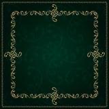 Gouden kader met uitstekende bloemenelementen Royalty-vrije Stock Fotografie