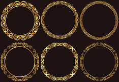Gouden kaders Royalty-vrije Stock Foto