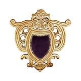 Gouden kam Royalty-vrije Stock Afbeeldingen
