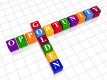Gouden kans zoals kleurenkruiswoordraadsel Royalty-vrije Stock Afbeelding