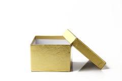 Gouden kartondoos Stock Foto's