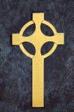 Gouden Keltisch Kruis Stock Afbeelding