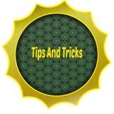 Gouden kenteken met UITEINDEN EN TRUCStekst vector illustratie