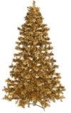 Gouden Kerstboom Stock Afbeelding