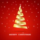 Gouden Kerstboom Royalty-vrije Stock Afbeeldingen