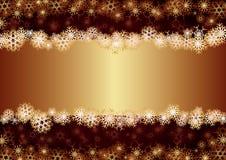 Gouden Kerstkaart Royalty-vrije Stock Foto