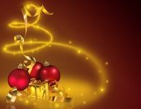Gouden Kerstmis Royalty-vrije Stock Foto