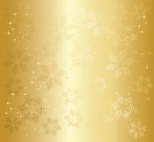 Gouden Kerstmisachtergrond Royalty-vrije Stock Afbeeldingen