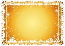 Gouden Kerstmisachtergrond Royalty-vrije Stock Afbeelding