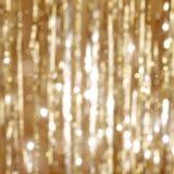 Gouden Kerstmisachtergrond Stock Foto