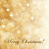 Gouden Kerstmisachtergrond stock illustratie