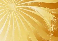 Gouden Kerstmisachtergrond Stock Afbeelding