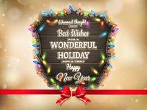 Gouden Kerstmisachtergrond Eps 10 Stock Afbeeldingen