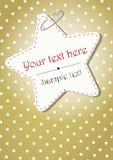 Gouden Kerstmisachtergrond met sterren Stock Fotografie