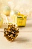 Gouden Kerstmisbackground Royalty-vrije Stock Fotografie