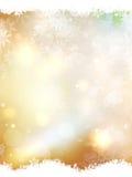 Gouden Kerstmisbackground Eps 10 Royalty-vrije Stock Fotografie