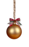 Gouden Kerstmisbal Royalty-vrije Stock Fotografie