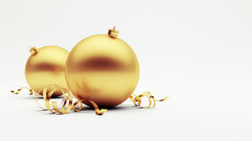 Gouden Kerstmisbal Royalty-vrije Stock Foto's