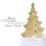 Gouden Kerstmisboom Royalty-vrije Stock Foto's