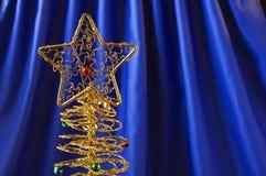 Gouden Kerstmisboom Royalty-vrije Stock Afbeeldingen