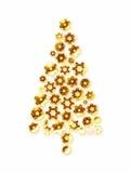 Gouden Kerstmisboom Stock Afbeeldingen