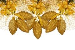 Gouden Kerstmisdecoratie Royalty-vrije Stock Foto's
