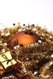 Gouden Kerstmisdecoratie royalty-vrije stock foto