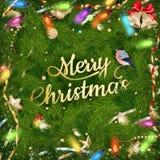 Gouden Kerstmisgroet Eps 10 Stock Fotografie