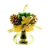 Gouden Kerstmisklok Royalty-vrije Stock Afbeelding
