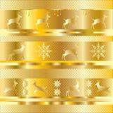 Gouden Kerstmispatroon Royalty-vrije Stock Foto
