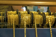 Gouden ketting stock fotografie